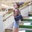 กระเป๋าสะพายแฟชั่น กระเป๋าสะพายข้างผู้หญิง CN คาเวียร์ 10 นิ้ว [สีดำ] thumbnail 2