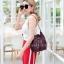 กระเป๋าสะพายแฟชั่น กระเป๋าสะพายข้างผู้หญิง GG ทรงขนมจีบ [สีแดง] thumbnail 1
