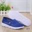 พร้อมส่ง รองเท้าผ้าใบลูกไม้สีน้ำเงิน พื้นสุขภาพ ผ้าลูกไม้โปร่งใส่สบาย แฟชั่นเกาหลี [สีน้ำเงิน ] thumbnail 4