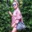 กระเป๋าสะพายแฟชั่น กระเป๋าสะพายข้างผู้หญิง อัดพีทห่วง [สีเทา] thumbnail 1