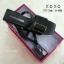 พร้อมส่ง รองเท้าส้นเตี้ยรัดส้นสีดำ วัสดุพียู ส้นไม้ แฟชั่นเกาหลี [สีดำ ] thumbnail 4