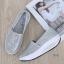 พร้อมส่ง รองเท้าผ้าใบเสริมส้นสีเงิน ผ้าทอติดลายกลิตเตอร์วิ้งๆ แฟชั่นเกาหลี [สีเงิน ] thumbnail 2