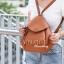 กระเป๋าสะพายแฟชั่น กระเป๋าสะพายข้างผู้หญิง สะพายสองแบบ [สีดำ] thumbnail 2