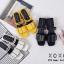 พร้อมส่ง รองเท้าส้นเตี้ยรัดส้นสีดำ วัสดุพียู ส้นไม้ แฟชั่นเกาหลี [สีดำ ] thumbnail 5