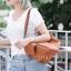 กระเป๋าสะพายแฟชั่น กระเป๋าสะพายข้างผู้หญิง สะพายสองแบบ [สีดำ]