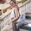 กระเป๋าสะพายแฟชั่น กระเป๋าสะพายข้างผู้หญิง pyramid [สีเงิน]