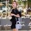 กระเป๋าสะพายแฟชั่น กระเป๋าสะพายข้างผู้หญิง Mini Lady Bag [สีดำ] thumbnail 3