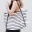 กระเป๋าสะพายแฟชั่น กระเป๋าสะพายข้างผู้หญิง Shopping bag [สีขาว] thumbnail 3