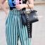 กระเป๋าสะพายแฟชั่น กระเป๋าสะพายข้างผู้หญิง Fendi candy stud [สีดำ]