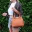 กระเป๋าสะพายแฟชั่น กระเป๋าสะพายข้างผู้หญิง The BOX [สีส้ม] thumbnail 4