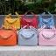 กระเป๋าสะพายแฟชั่น กระเป๋าสะพายข้างผู้หญิง Lindy 26 cm [สีชมพู] thumbnail 5