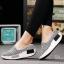 พร้อมส่ง รองเท้าผ้าใบเสริมส้นสีเทา ผ้าทอ พื้นสุขภาพ แฟชั่นเกาหลี [สีเทา ] thumbnail 3