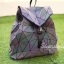 กระเป๋าเป้ผู้หญิง กระเป๋าสะพายหลังแฟชั่น เป้เพชรรุ้ง [สีรุ้ง] thumbnail 3