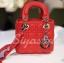 กระเป๋าสะพายแฟชั่น กระเป๋าสะพายข้างผู้หญิง Mini Lady Bag [สีแดง] thumbnail 4