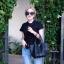 กระเป๋าสะพายแฟชั่น กระเป๋าสะพายข้างผู้หญิง Picotin size L [สีดำ]