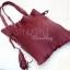 กระเป๋าสะพายแฟชั่น กระเป๋าสะพายข้างผู้หญิง สะพายข้างอัดพีท [สีแดง] thumbnail 5