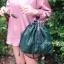 กระเป๋าสะพายแฟชั่น กระเป๋าสะพายข้างผู้หญิง อัดพีทห่วง [สีเขียว] thumbnail 2