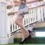 กระเป๋าสะพายแฟชั่น กระเป๋าสะพายข้างผู้หญิง CN คาเวียร์ 10 นิ้ว [สีครีม] thumbnail 3