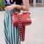 กระเป๋าสะพายแฟชั่น กระเป๋าสะพายข้างผู้หญิง Fendi candy stud [สีแดง] thumbnail 2