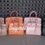 กระเป๋าสะพายแฟชั่น กระเป๋าสะพายข้างผู้หญิง Birkin PU 30 cm [สีส้ม] thumbnail 5