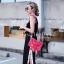 กระเป๋าสะพายแฟชั่น กระเป๋าสะพายข้างผู้หญิง City mini bag [สีแดง] thumbnail 3