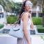 กระเป๋าสะพายแฟชั่น กระเป๋าสะพายข้างผู้หญิง Lindy 26 cm [สีเทา] thumbnail 1