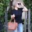 กระเป๋าสะพายแฟชั่น กระเป๋าสะพายข้างผู้หญิง Picotin size L [สีดำ] thumbnail 1