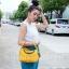 กระเป๋าสะพายแฟชั่น กระเป๋าสะพายข้างผู้หญิง Lindy 26 cm [สีเหลือง] thumbnail 2