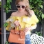 กระเป๋าสะพายแฟชั่น กระเป๋าสะพายข้างผู้หญิง Birkin PU 25 cm [สีส้ม]