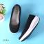 พร้อมส่ง รองเท้าผ้าใบเสริมส้นสีดำ ผ้าลูกไม้ พื้นสุขภาพ แฟชั่นเกาหลี [สีดำ ] thumbnail 6