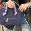 กระเป๋าสะพายแฟชั่น กระเป๋าสะพายข้างผู้หญิง ซีลีนคลาสสิค (CELINE CLASSIC) อะไหล่ทอง [สีกรม] thumbnail 2