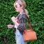 กระเป๋าสะพายแฟชั่น กระเป๋าสะพายข้างผู้หญิง The BOX [สีส้ม] thumbnail 2
