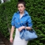 กระเป๋าสะพายแฟชั่น กระเป๋าสะพายข้างผู้หญิง Lindy 26 cm [สีดำ] thumbnail 4