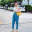 กระเป๋าสะพายแฟชั่น กระเป๋าสะพายข้างผู้หญิง Lindy 26 cm [สีเหลือง] thumbnail 3