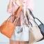 กระเป๋าสะพายแฟชั่น กระเป๋าสะพายข้างผู้หญิง LINDY (PU) [สีส้ม] thumbnail 3