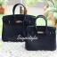 กระเป๋าสะพายแฟชั่น กระเป๋าสะพายข้างผู้หญิง Birkin PU 30 cm [สีดำ] thumbnail 4