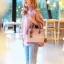 กระเป๋าสะพายแฟชั่น กระเป๋าสะพายข้างผู้หญิง The BOX 24 CM [สีชมพู] thumbnail 2
