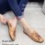 พร้อมส่ง รองเท้าส้นแบนสีน้ำตาล ทรงสลิปเปอร์ Style Gucci แฟชั่นเกาหลี [สีน้ำตาล ]