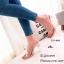พร้อมส่ง รองเท้าส้นสูงเปิดส้นสีครีม พียูใสนิ่ม ส้นแก้ว แฟชั่นเกาหลี [สีครีม ] thumbnail 1