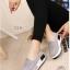 พร้อมส่ง รองเท้าผ้าใบเสริมส้นสีเทา ผ้าแคนวาส พื้นสุขภาพ แฟชั่นเกาหลี [สีเทา ] thumbnail 2