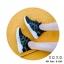 พร้อมส่ง รองเท้าผ้าใบเสริมส้นสีดำ ด้านข้างมี upper ดึงกระชับ แฟชั่นเกาหลี [สีดำ ] thumbnail 6