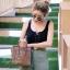กระเป๋าสะพายแฟชั่น กระเป๋าสะพายข้างผู้หญิง Top bag [สีดำ] thumbnail 2