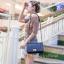 กระเป๋าสะพายแฟชั่น กระเป๋าสะพายข้างผู้หญิง CN คาเวียร์ 10 นิ้ว [สีดำ] thumbnail 3