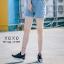 พร้อมส่ง รองเท้าผ้าใบเสริมส้นสีดำ ด้านข้างมี upper ดึงกระชับ แฟชั่นเกาหลี [สีดำ ] thumbnail 1