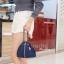 กระเป๋าสะพายแฟชั่น กระเป๋าสะพายข้างผู้หญิง กระเป๋าสะพายข้าง ฟักทอง [สีกรม]
