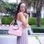 กระเป๋าสะพายแฟชั่น กระเป๋าสะพายข้างผู้หญิง Lindy 26 cm [สีชมพู] thumbnail 2