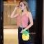 กระเป๋าสะพายแฟชั่น กระเป๋าสะพายข้างผู้หญิง pineapple bag [สีเหลือง] thumbnail 3