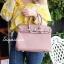 กระเป๋าสะพายแฟชั่น กระเป๋าสะพายข้างผู้หญิง Birkin PU 30 cm [สีชมพู] thumbnail 1