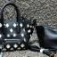 กระเป๋าสะพายแฟชั่น กระเป๋าสะพายข้างผู้หญิง Celine Pyramid [สีดำ] thumbnail 4