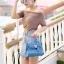 กระเป๋าสะพายแฟชั่น กระเป๋าสะพายข้างผู้หญิง Mini Kelly Pu [สีดำ] thumbnail 3